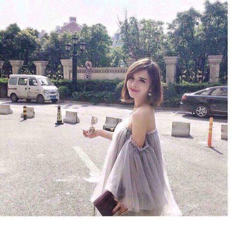 [Q5] Đầm Bẹt Vai Lưới Quảng Châu