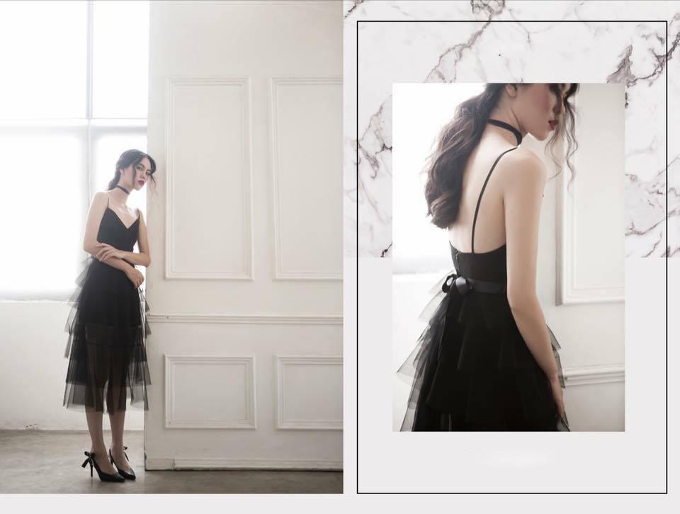 [CN] Elisee Layer Dress ( Đen )