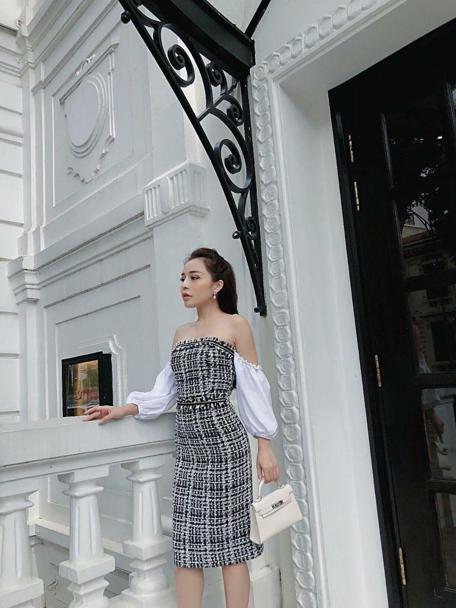 [CT] Đầm TWEED Hàn Quốc