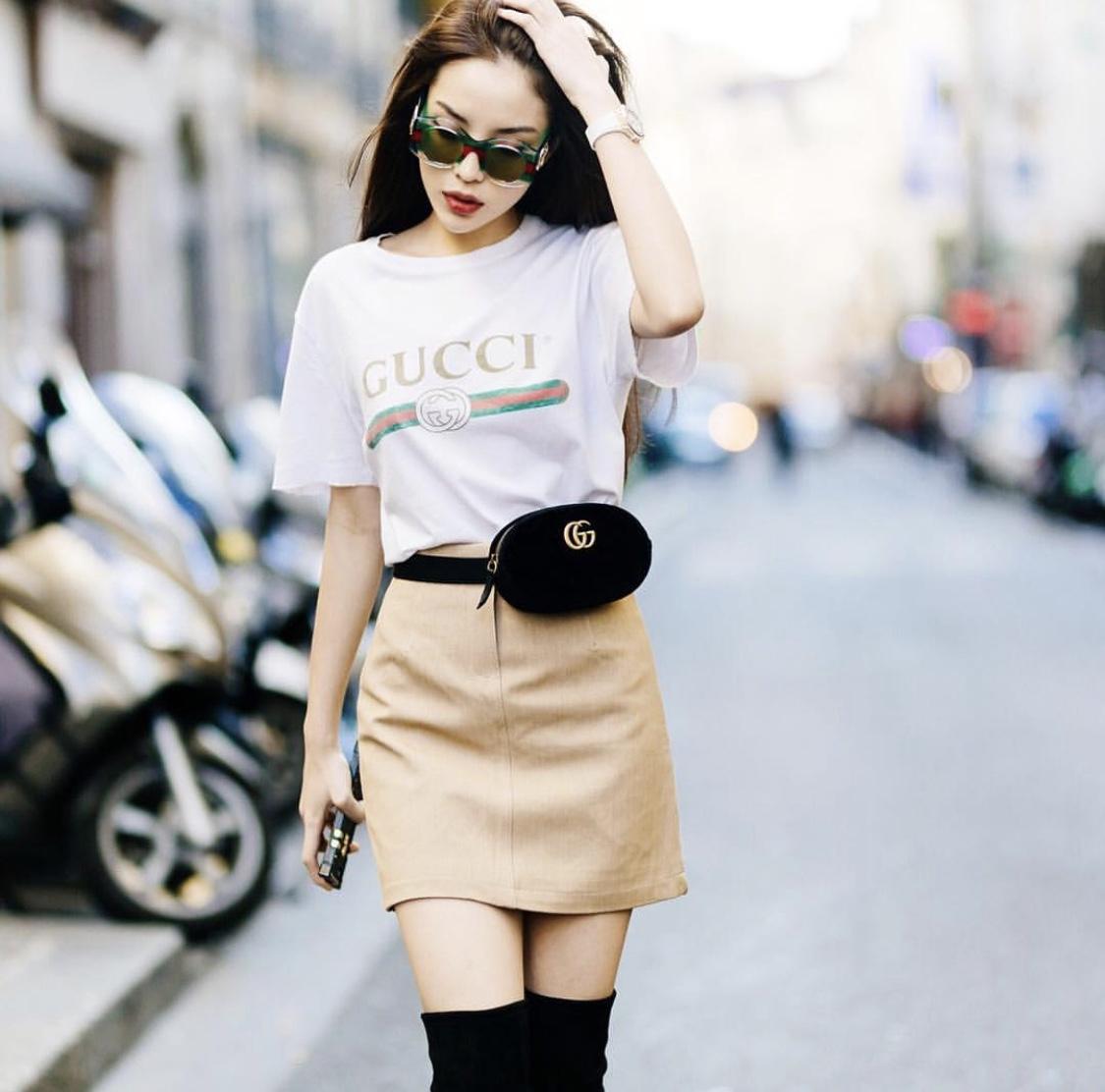 Áo Thun Gucci (Trắng) - size M