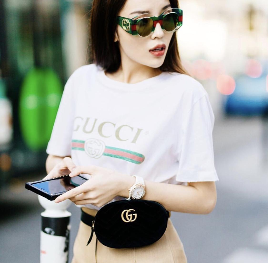 Áo Thun Gucci (Trắng) - size L