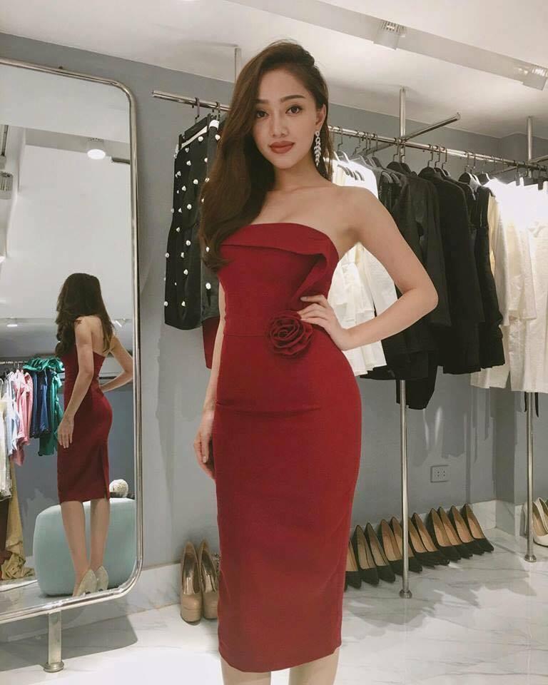 [Q5] Đầm Body Hoa Hồng (màu Đỏ)
