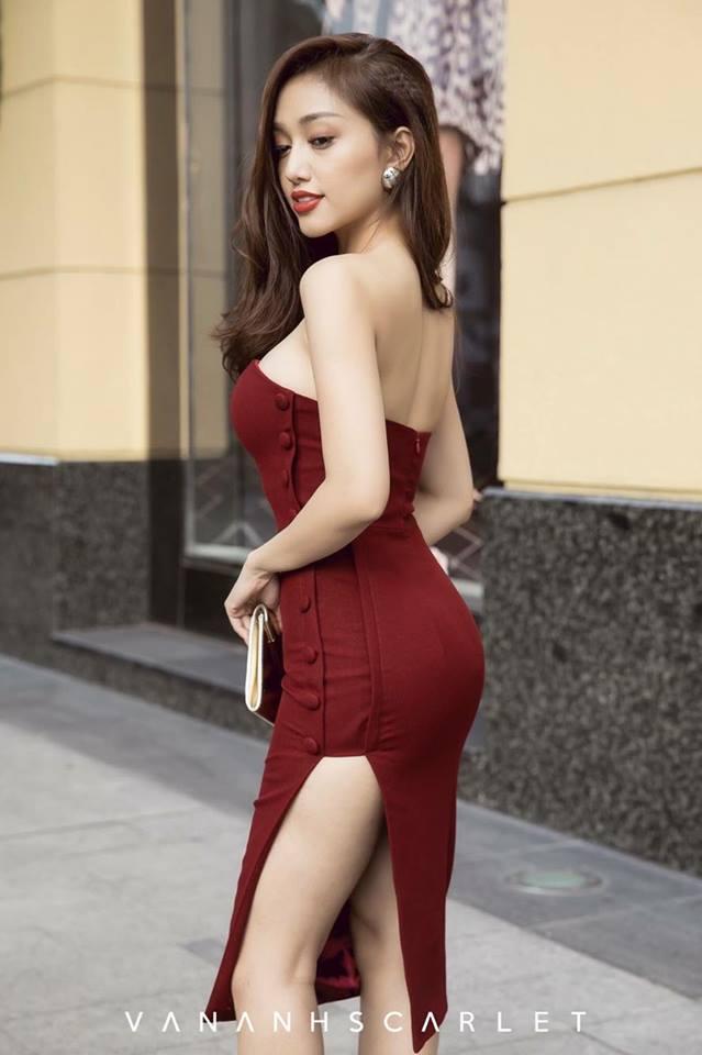 [Q5] Đầm Body Nút Bọc Hương Tràm