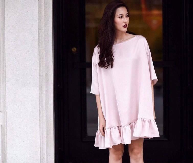 [CT] Đầm Satin Lụa Hồng