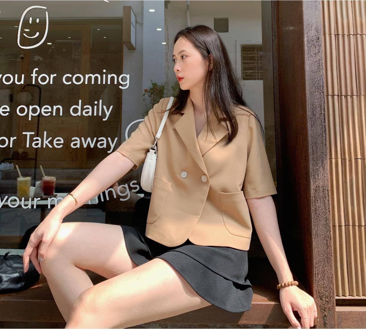 Áo Vest Tay Lửng Phom Suông Trẻ Trung (NUDE)