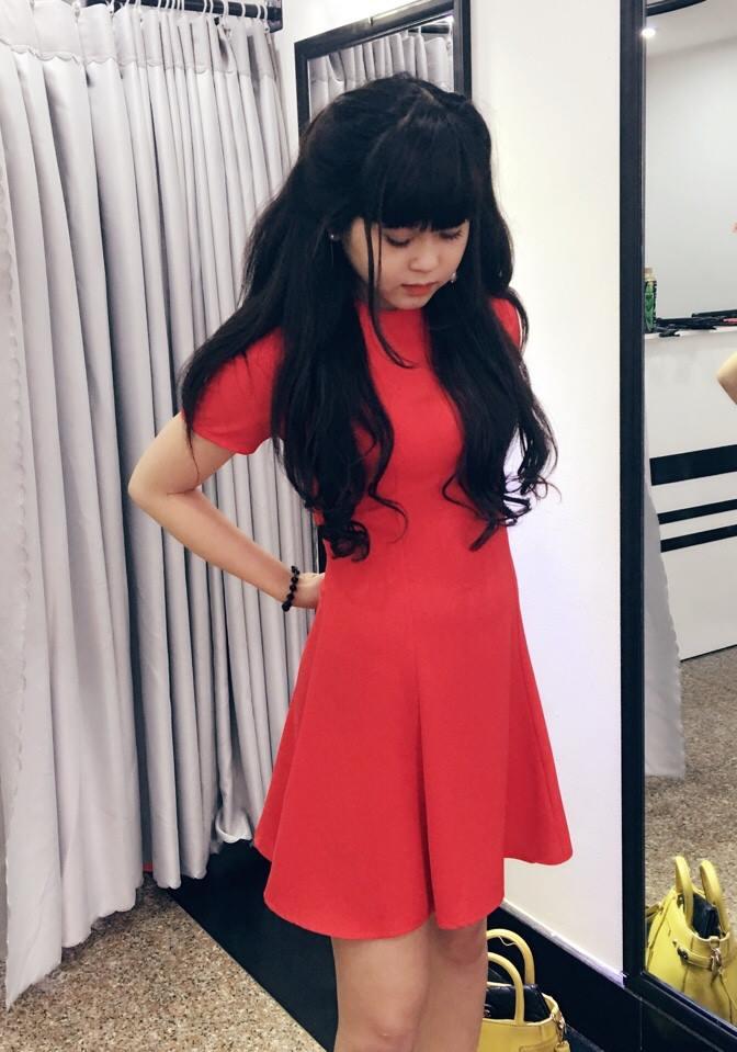 Đầm Xòe 7 mãnh ( Đỏ )