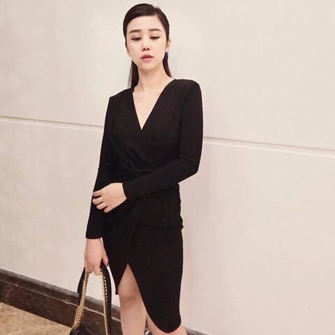 [Q5] Đầm Body Xoắn Eo ( ĐEN)