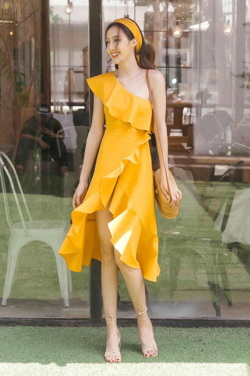 [CN] [CT] TURBAN - YELLOW -  DRESS
