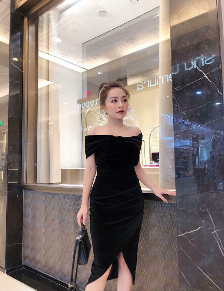 [CT] VELVET DRESS (ĐEN)